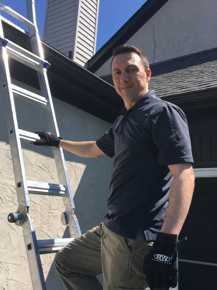 Art Horinek, Home Inspector, Inspecting a Home