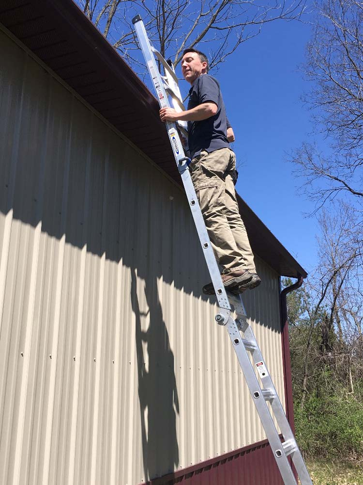 Art Horinek Inspecting A Roof in Columbus, OH
